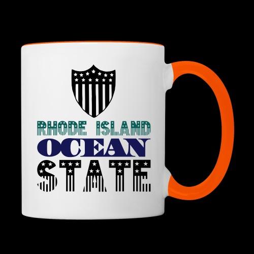 rhode island ocean state - Contrasting Mug