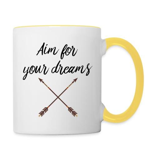 Aim for your Dreams - Kaksivärinen muki