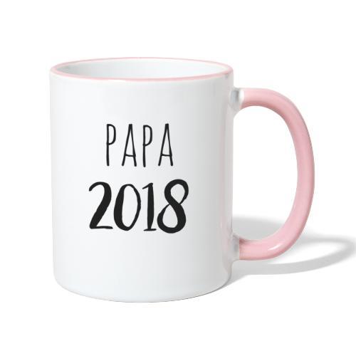 Papa 2018 - Tasse zweifarbig