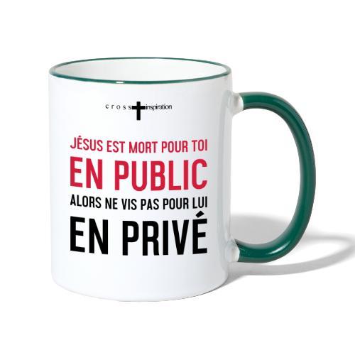 Public ou privé - Mug contrasté