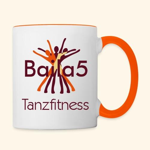 Baila5 Tanzfitness - Tasse zweifarbig