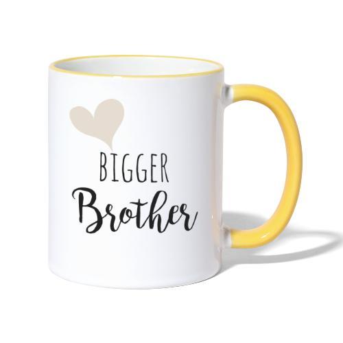 bigger brother - Tasse zweifarbig