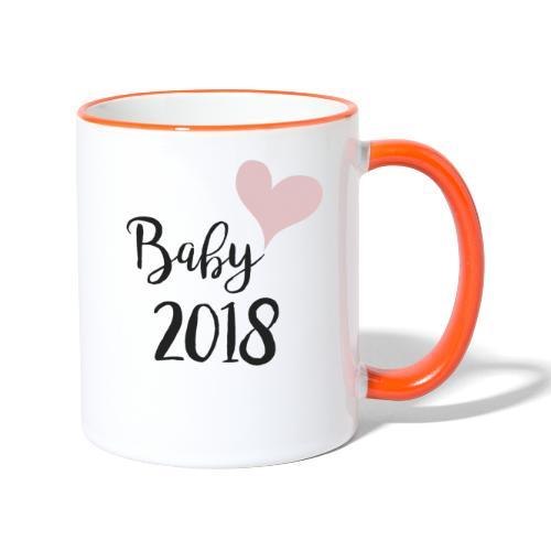 Baby 2018 - Tasse zweifarbig