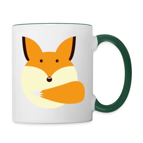 Fuchs Norbi - Tasse zweifarbig