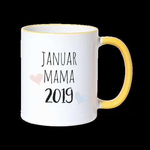 Januar Mama 2019 - Tasse zweifarbig