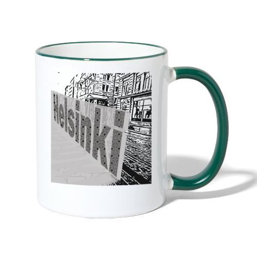 helsinki tram typo - Contrasting Mug