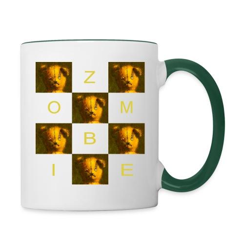 Zombie Teddy Bear Design - Contrasting Mug