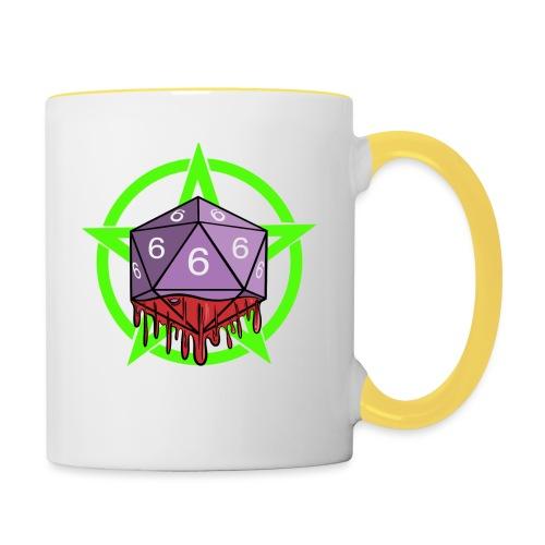 Würfel RPG Spiel Rollenspiele 666 mit Pentagramm - Tasse zweifarbig