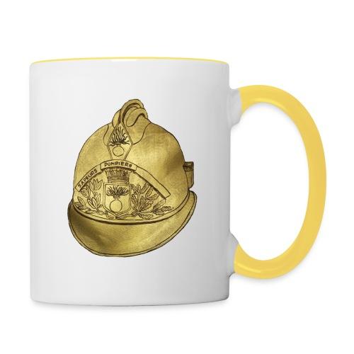 Casque pompier - Mug contrasté