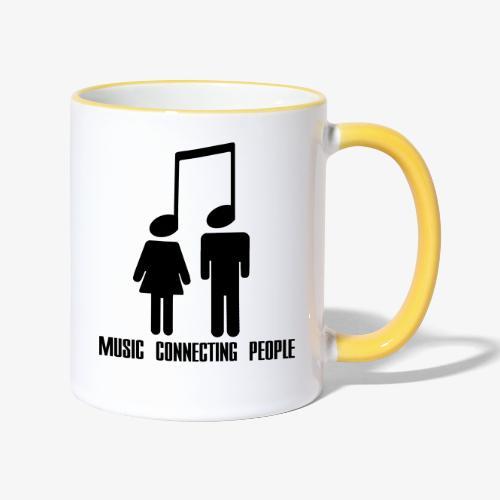 Music Connecting People - Tasse zweifarbig