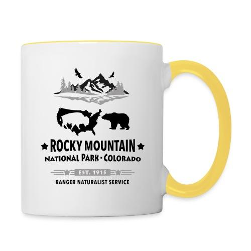 Rocky Mountain Nationalpark Berg Bison Grizzly Bär - Contrasting Mug