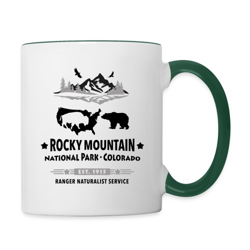 Rocky Mountain Nationalpark Berg Bison Grizzly Bär - Contrasting Mug