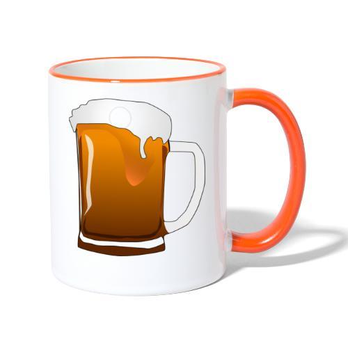 Cartoon Bier Geschenkidee Biermaß - Tasse zweifarbig