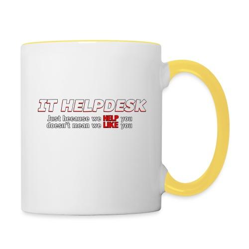I.T. HelpDesk - Contrasting Mug
