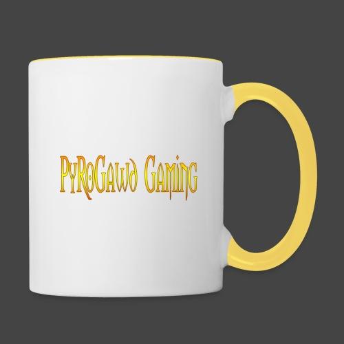 PyroGawd Logo Text - Tasse zweifarbig