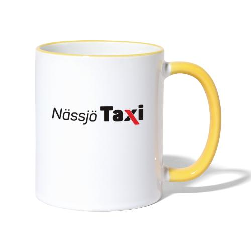 Nässjö taxi tryck - Tvåfärgad mugg