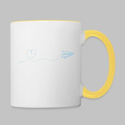 fly heart - Contrasting Mug