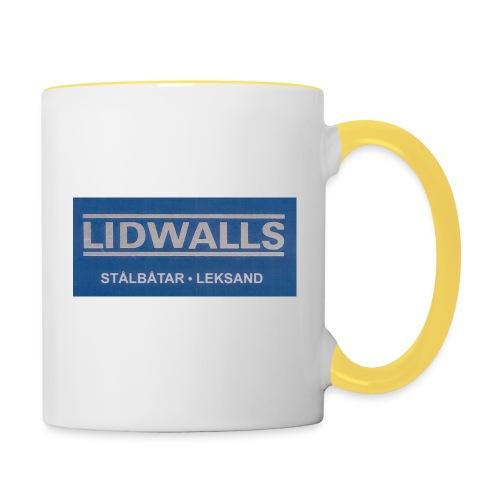 Lidwalls Stålbåtar - Tvåfärgad mugg
