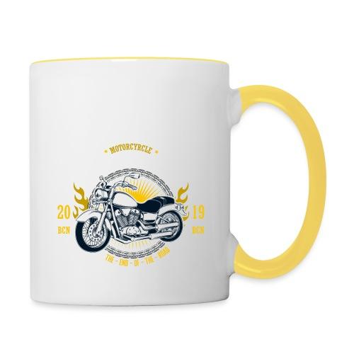 Motorcycle1 - Taza en dos colores
