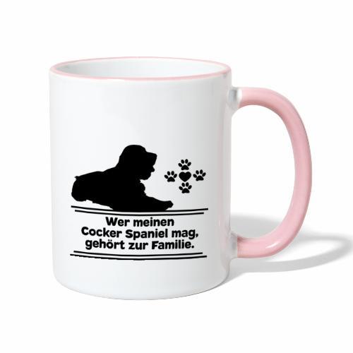 Cocker Spaniel T-Shirts Cockerspaniel Hundespruch - Tasse zweifarbig