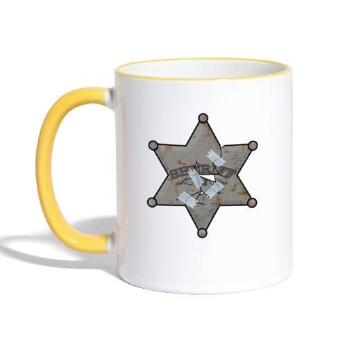 Rusty Sheriff's Badge - Contrasting Mug