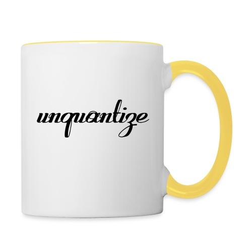 unquantize black logo - Contrasting Mug
