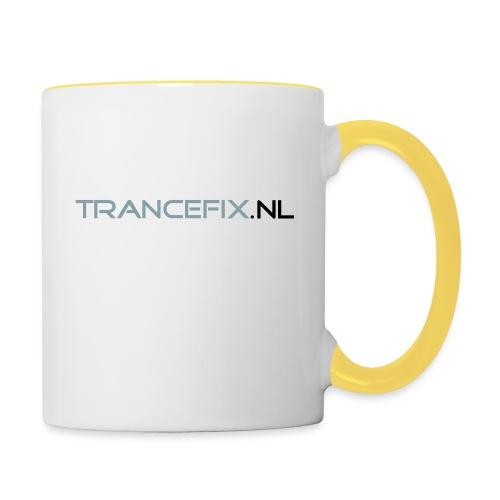 trancefix text - Contrasting Mug