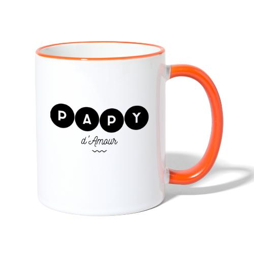 Papy d amour - Mug contrasté