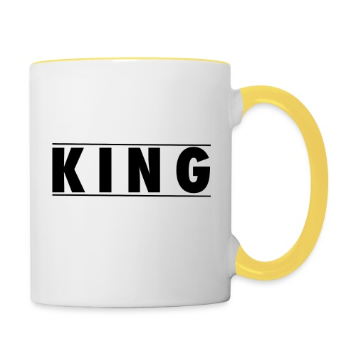 Tasse - King and Queen - Tasse zweifarbig