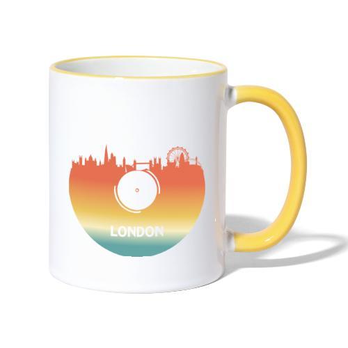 London Skyline Vinyl Schallplatte London Souvenir - Tasse zweifarbig