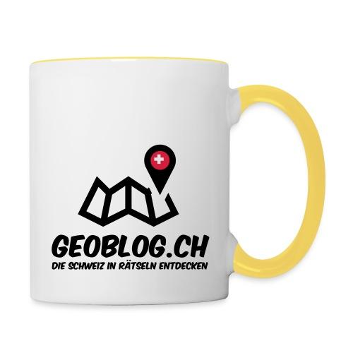Logo+Schriftzug-hoch - Tasse zweifarbig