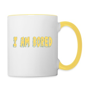 I AM BORED T-SHIRT - Contrasting Mug