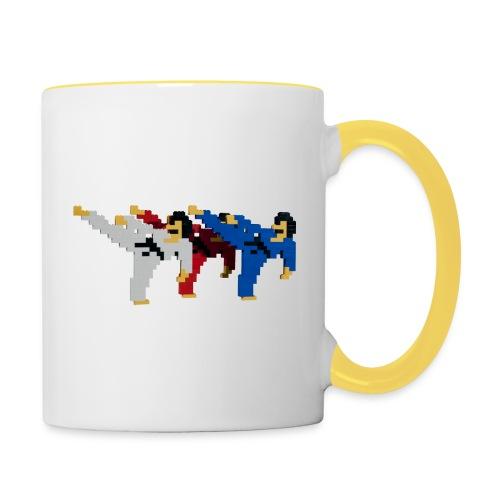 8 bit trip ninjas 2 - Contrasting Mug