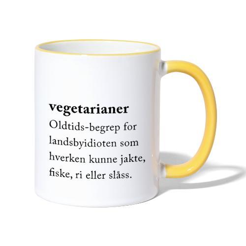 Vegetarianer definisjon - Tofarget kopp