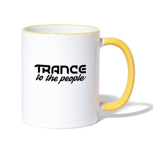 Trance to the People Sort Logo - Tofarvet krus