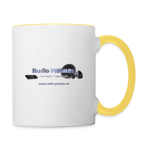 Radio PARALAX Facebook-Logo mit Webadresse - Tasse zweifarbig