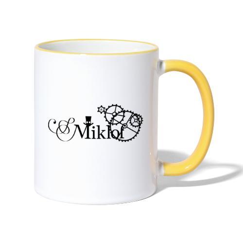 miklof logo black 3000px - Contrasting Mug