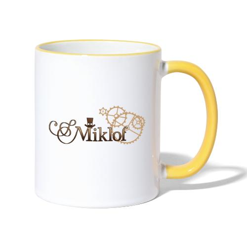 miklof logo gold wood gradient 3000px - Contrasting Mug