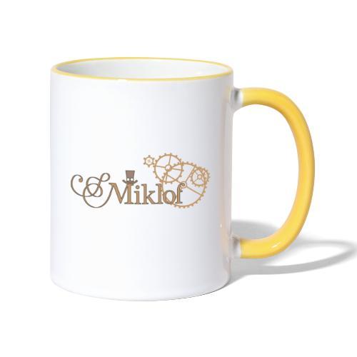 miklof logo gold outlined 3000px - Contrasting Mug