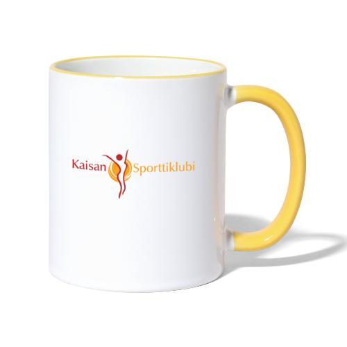 Kaisan Sporttiklubi logo - Kaksivärinen muki