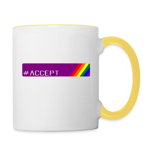 79 accept - Tasse zweifarbig