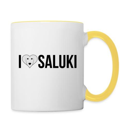 I Love Saluki - Tazze bicolor