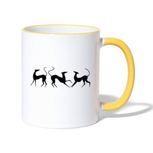 Windhundfries - Tasse zweifarbig