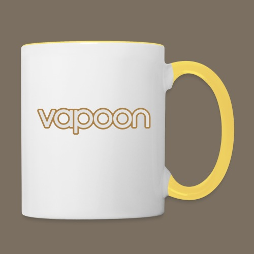 Vapoon Logo simpel 2 Farb - Tasse zweifarbig
