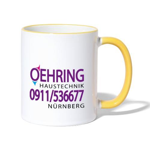 Firma Oehring - Tasse zweifarbig