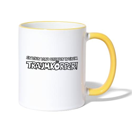 Traumkoerper - Tasse zweifarbig