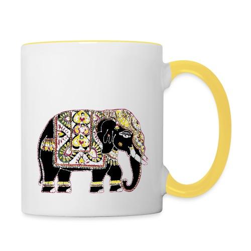 Indian elephant for luck - Contrasting Mug