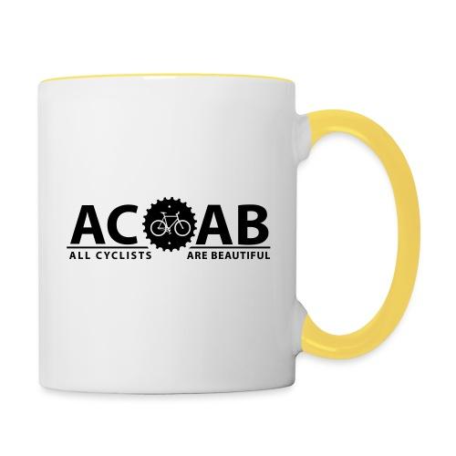 ACAB All Cyclists Are Beautiful T-Shirts - Tasse zweifarbig