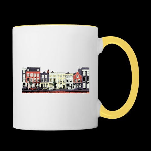 Pretty Dutch town houses - Contrasting Mug