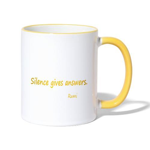 Silence - Contrasting Mug